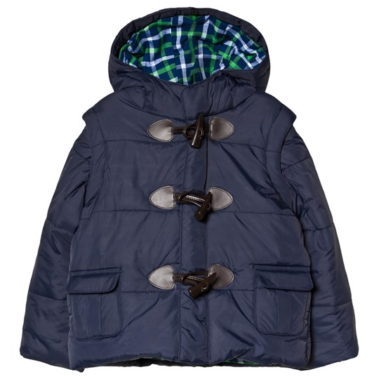 Andy & Evan Navy Puffer Jacket Gingham NVH