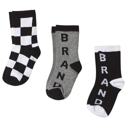The BRAND 3-Pack Socks Black, White and Grey
