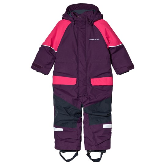 Didriksons Bille Kids Coverall Berry Purple Berry Purp