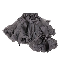 DOLLY by Le Petit Tom Princess & the Pea Pettiskirt Dark Grey