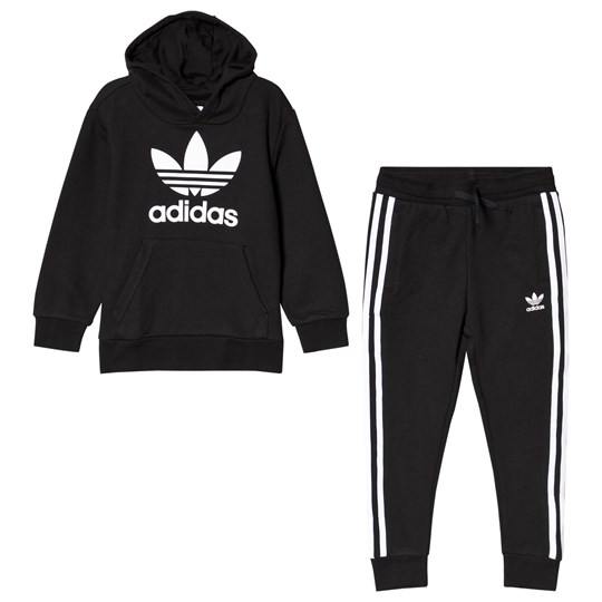 adidas Originals Black Hoodie Sweatpants Set Black