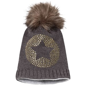 Image of Ticket to heaven Bobble Hat Anthrazit Melange Grey 49 cm (1195023)