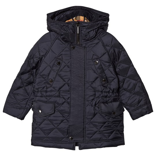 Burberry Tyler Quilted Hooded Jacket Navy A1222