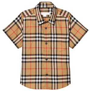 Image of Burberry Fred Vintage Check Short Sleve Shirt Beige 10 years (3125274535)