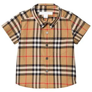 Image of Burberry Mini Fred Vintage Check Short Sleeve Shirt 6 months (3125265049)