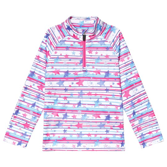 Spyder Pink and White Limitless Star Stripe Tee 841