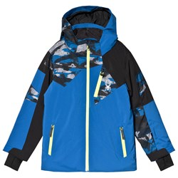 Spyder Blue and Camo Leader Jacket