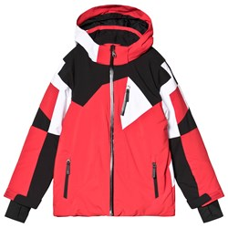 Spyder Red and White Leader Jacket