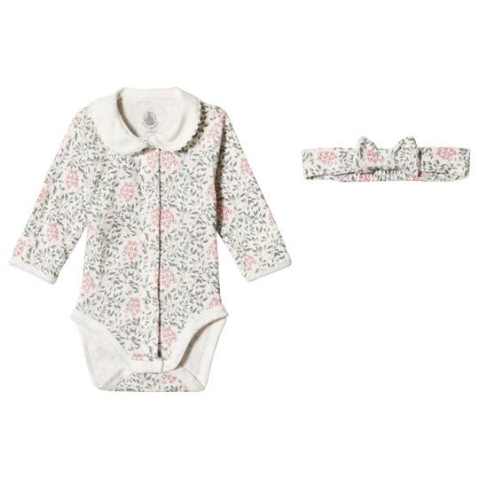Petit Bateau Baby Body Leaf Printed Off-White off-white