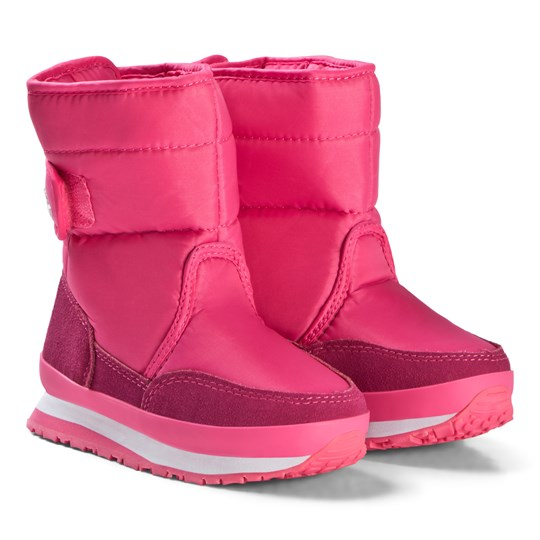 Rubber Duck Nylon Suede Solid Kids Boots Pink Pink