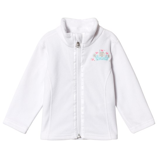 Poivre Blanc Micro Fleece Embroidered Mid Layer White 0001