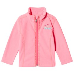 Poivre Blanc Micro Fleece Embroidered Mid Layer Punch Pink