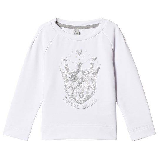 Poivre Blanc Glitter Logo Base Layer Top White 0001