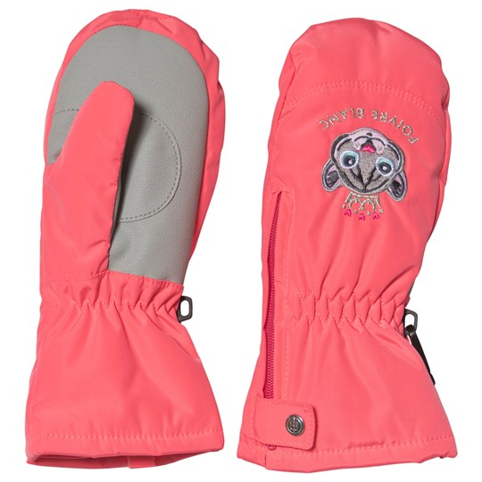 Poivre Blanc Embroidered Ski Mittens Punch Pink 0106