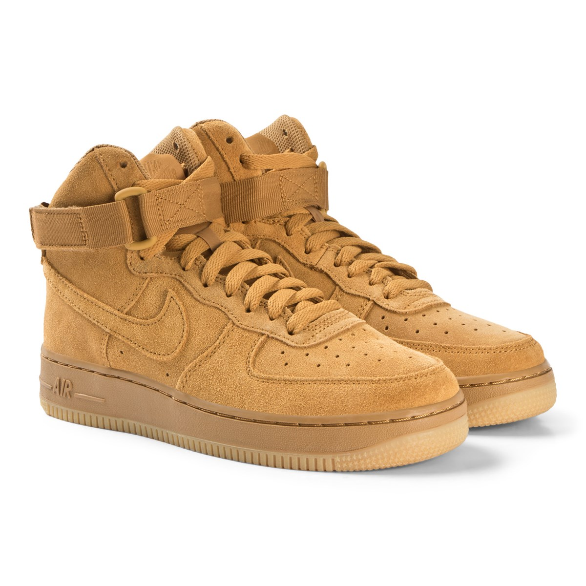 Nike Beige Nike Air Force 1 Lv8 High Top Sneakers