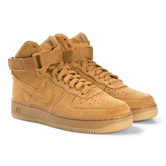 timeless design abc79 77d0f Beige Nike Air Force 1 LV8 High Top Sneakers