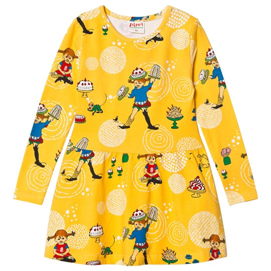 Pippi Långstrump Party Dress Yellow Yellow