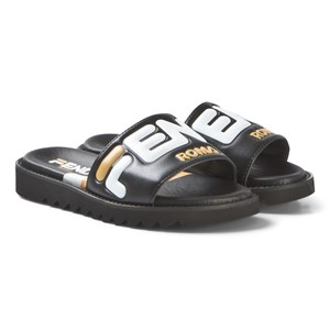 Image of Fendi Black Leather Sliders 30 (UK 12) (3125253475)