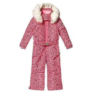Image of Poivre Blanc Leopard Belted Snowsuit Punch Pink 2 years (3125274641)