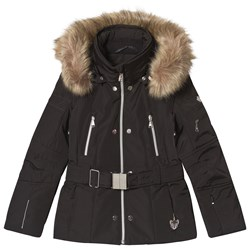 Poivre Blanc Belted Ski Jacket Black