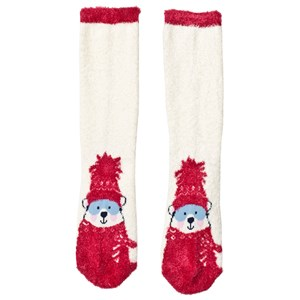 Image of Lands' End Ivory Winter Bear Cozy Slipper Socks L (UK 13-3) (3125287379)