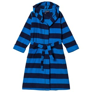 Image of Lands' End Blue and Navy Stripe Fleece Robe 4 years (3125289773)