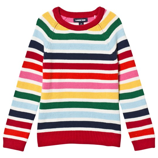 Lands' End Fun Stripe Knitted Sweater 6QS