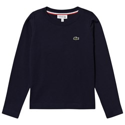 Lacoste Navy Long Sleeve Tee