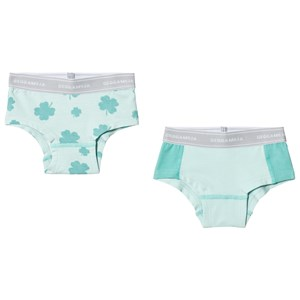 Image of Geggamoja 2-pack Hipsters Clover Green 110/116 cm (3125249347)