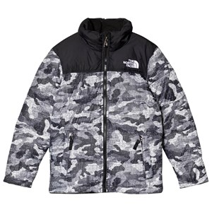 Image of The North Face Black Textured Camo Print Nuptse Down Jacket S (7-8 years) (3125233753)