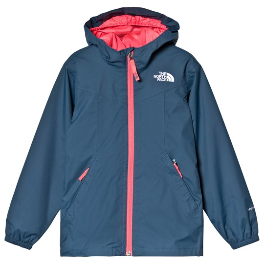 The North Face Navy Fleece Lined Waterproof Eliana Rain Triclimate Jacket Blue Wing Teal