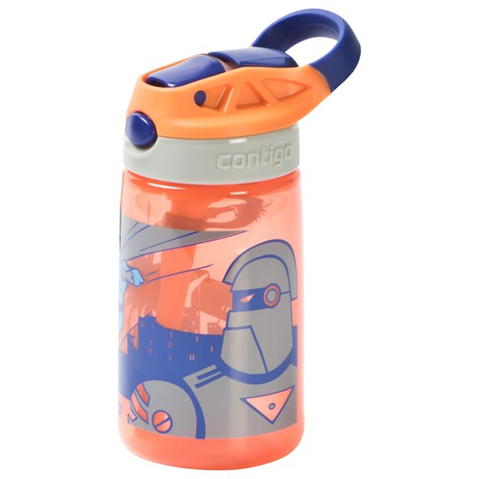 Contigo Gizmo Flip Water Bottle 420 ml Tangerine Superhero Orange