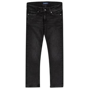 Image of GANT Black One Wash Slim Fit Jeans 122-128cm (7-8 years) (3125279443)