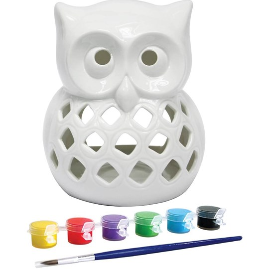 Champion Art Paint Your Own Owl Candle Burner
