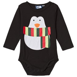 Max Collection Christmas Penguin Baby Body Black