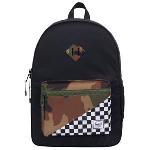 Image of Herschel Heritage Youth XL Backpack Black Checker/Woodland Camo (3125270077)