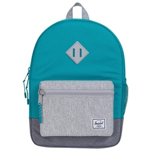 Image of Herschel Heritage Youth Backpack Tile Blue/Light Grey Crosshatch (3125270071)