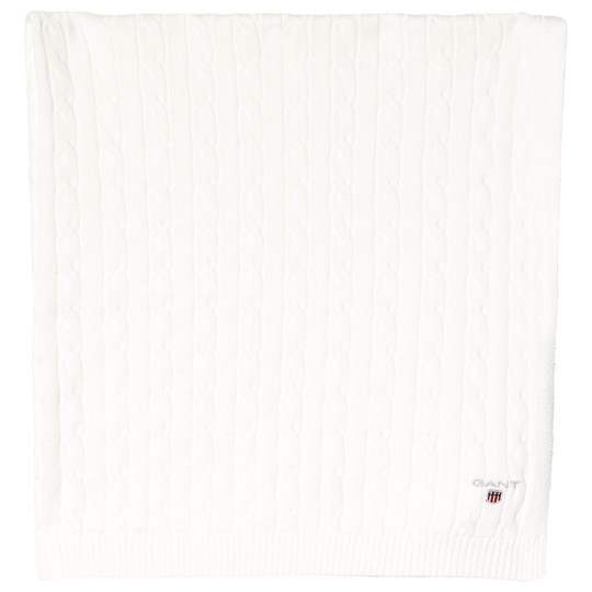 Gant Eggshell Cotton Cable Knit Blanket Giftbox 113