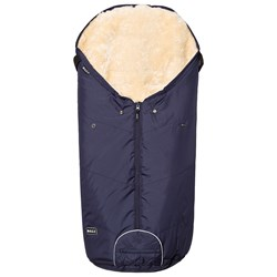 BOZZ Footmuff with Short-Haired Lambskin Navy/Champagne
