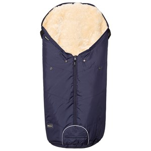 Image of BOZZ Footmuff with Short-Haired Lambskin Navy/Champagne (3125249541)