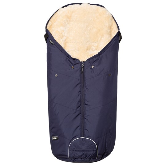 BOZZ Footmuff with Short-Haired Lambskin Navy/Champagne Multi
