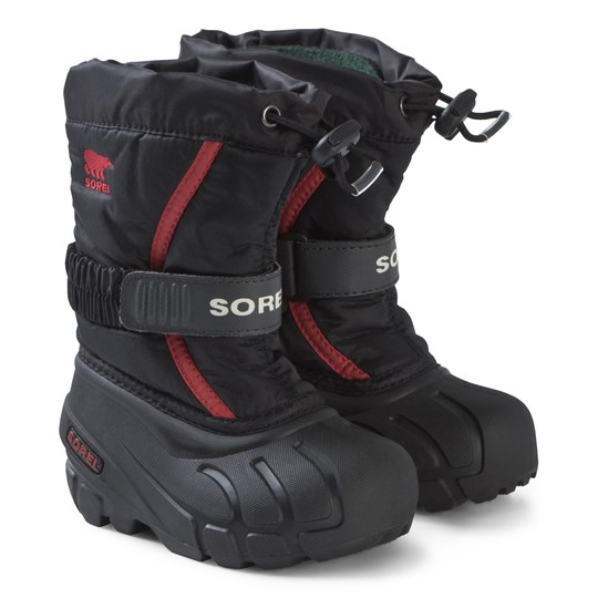 Sorel Flurry™ Boots Black and Red Red