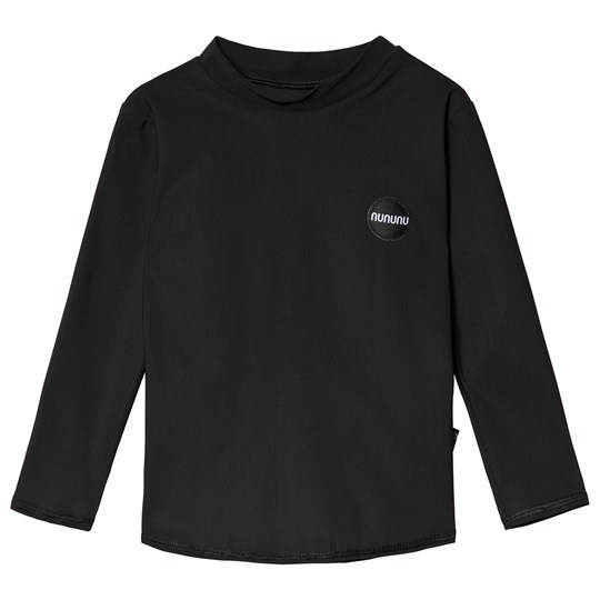 NUNUNU Back Off Long Sleeved Rashguard Black Black