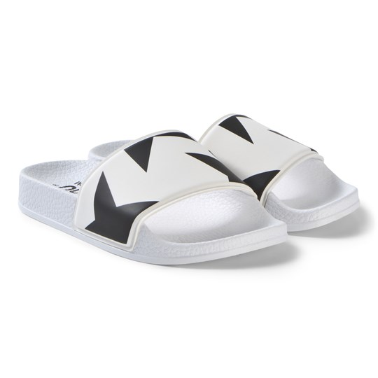 NUNUNU Star Slide Sandals White White