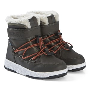 Image of Moon Boot Olive Night and Orange JR Mid Boots 34 (UK 2) (3138208807)