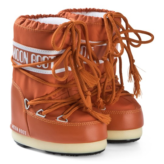 Moon Boot Nylon Boots Orange Orange