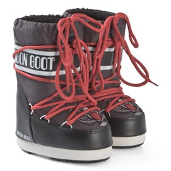 Moon Boot Black and Anthracite Tiger Boots