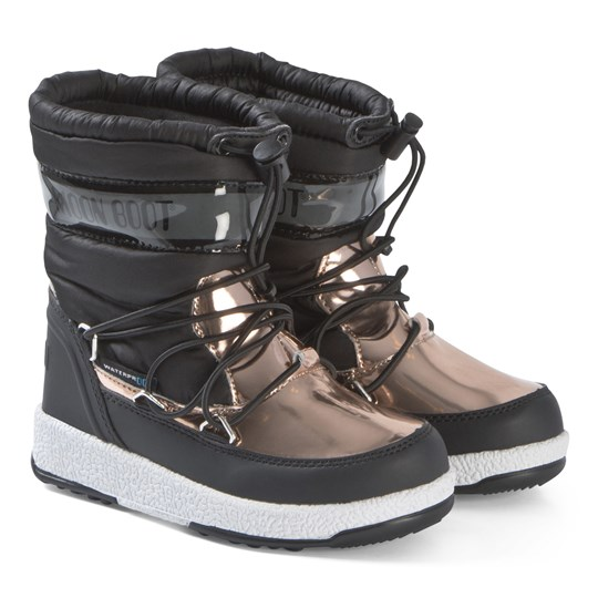 Moon Boot Black and Copper Soft WP Boots BLACK-COPPER