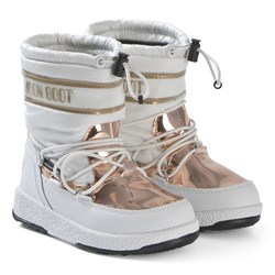 Moon Boot White and Copper Soft WP Boots