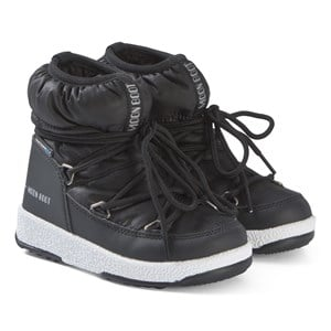 Image of Moon Boot Black Low Nylon WP Boots 33 (UK 1) (3138208805)